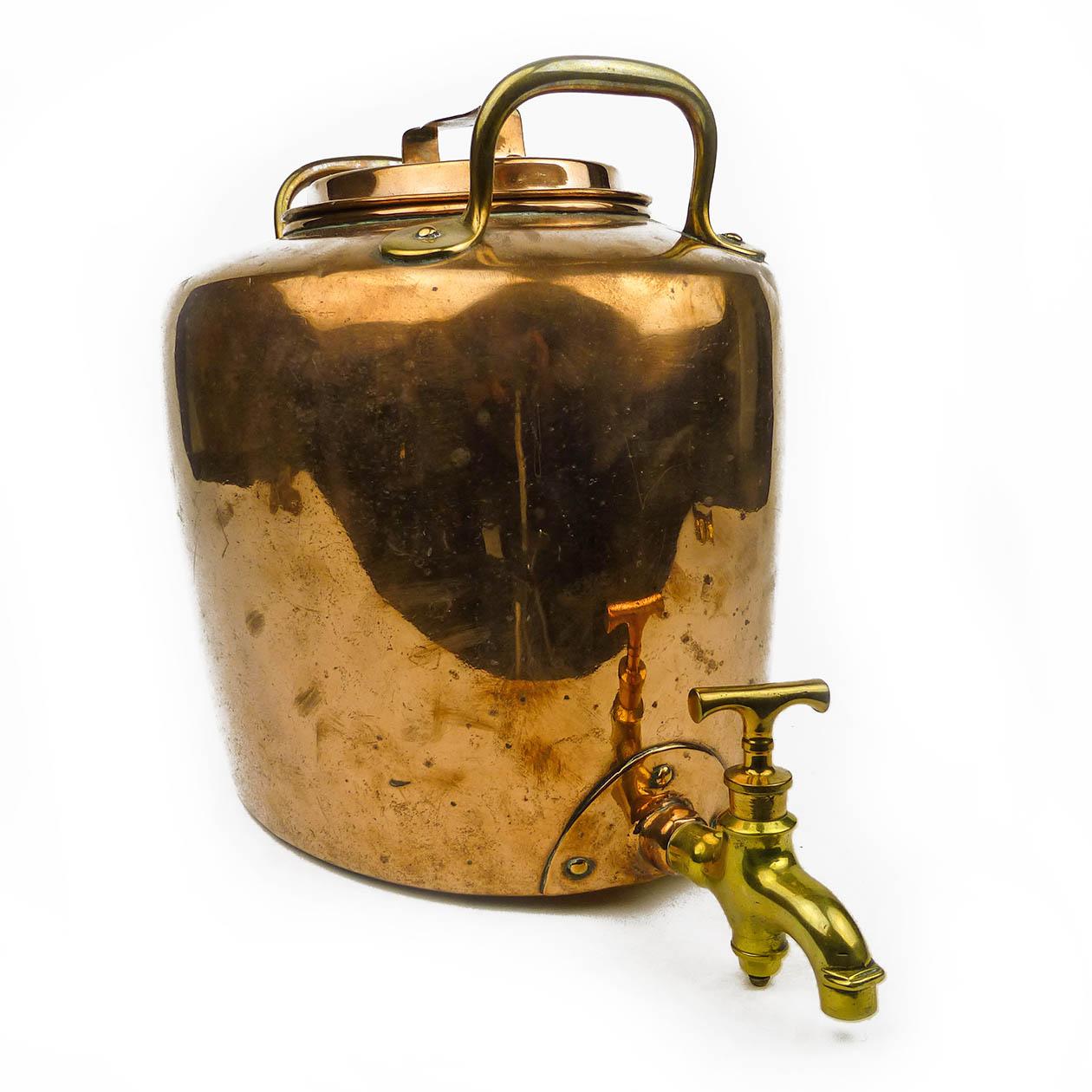English victorian copper tea or water boiler circa 1865 for Copper water boiler
