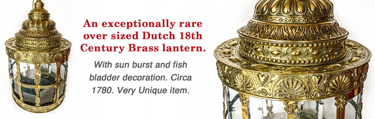 Slide – Rare Dutch Brass Lantern
