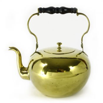 French Brass Kettle with Swing Ebony Handle. Circa 1750