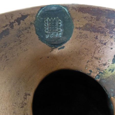 English One Gallon Copper Pistol Grip Measure. Lead Seal Dated 1826