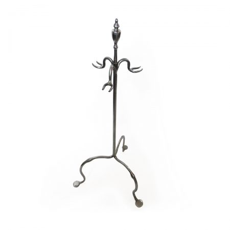 English Set of Three Polished Steel Fire Tools on Stand. Circa 1780