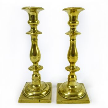 Pair of Russian Brass Candlesticks, Circa 1780