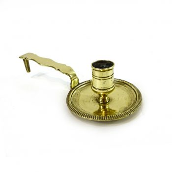 French Silver Form Brass Chamberstick, Circa 1740