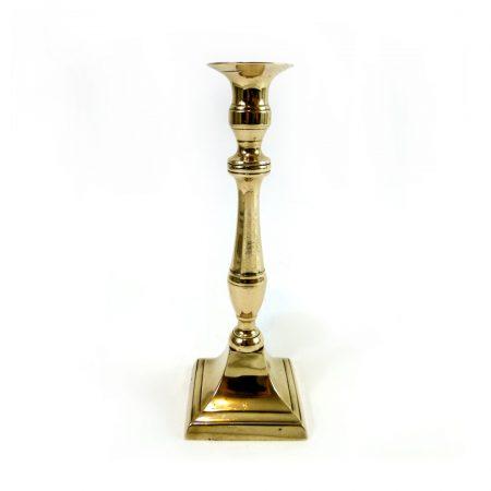 Single Late 18th Century Flemish Bell Metal Candlestick. Circa 1790