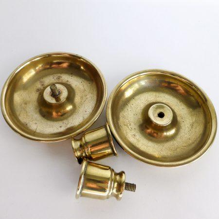 Pair of English Brass Sheet Metal Traveling Sticks or Brighton Buns. Circa 1850