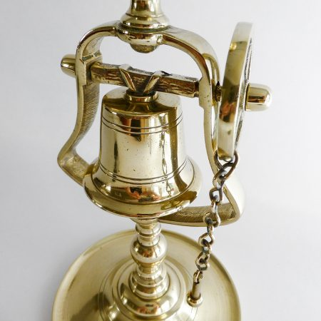 English Brass Tavern Stick with Bell and Chain. Circa 1890