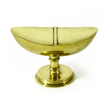 English Brass Incense Boat. Circa 1800