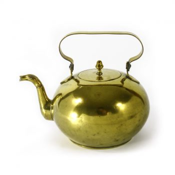 Unusual Dutch Brass Kettle with Serpent Spout