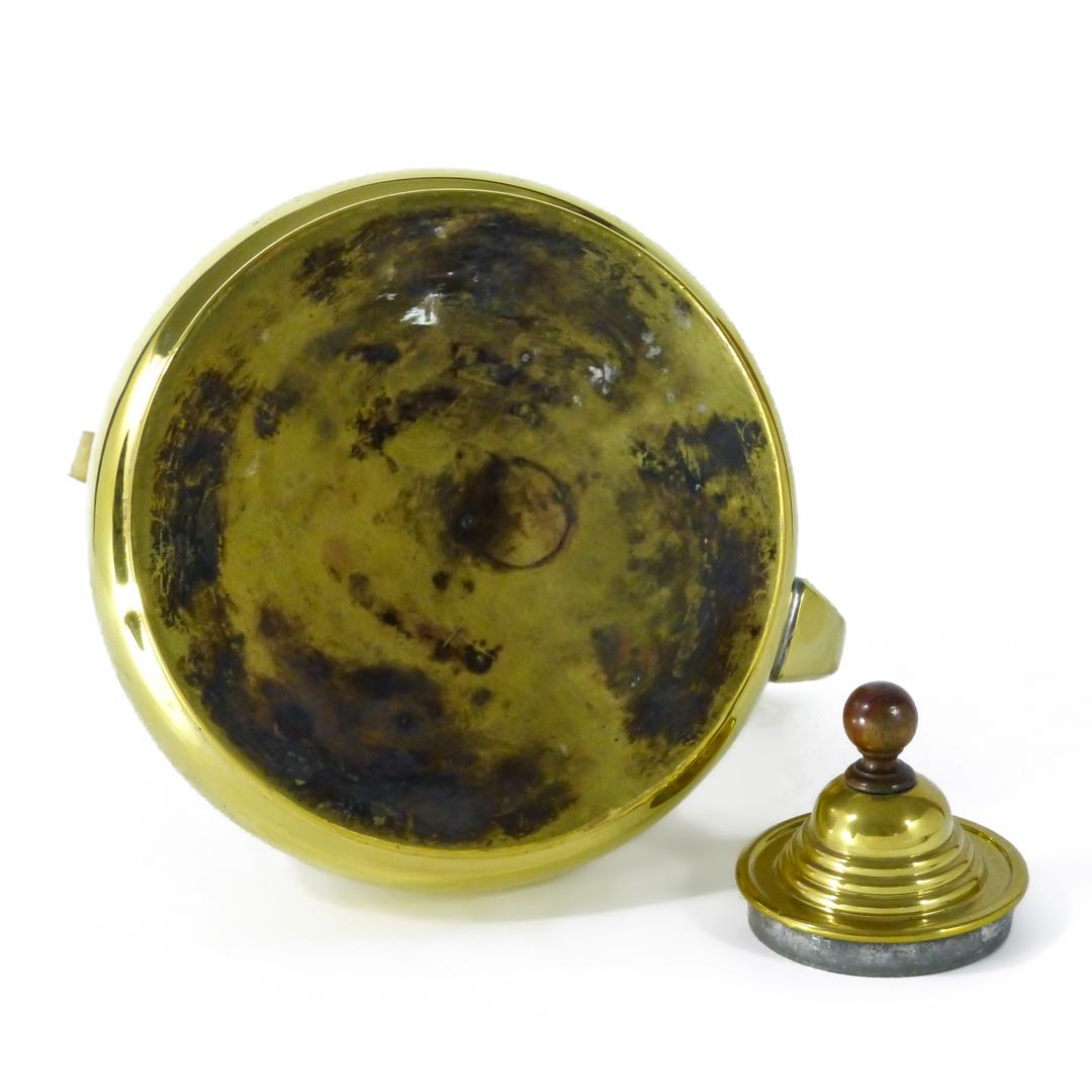 Dutch Brass Serpent Spout Kettle. Swing Handle. Circa 1725.