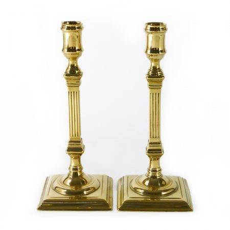 Pair of English Bell Metal Candlesticks. Circa 1765