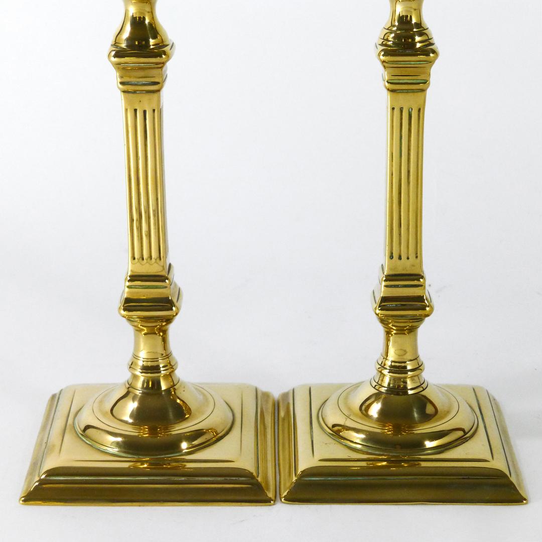Pair of English Bell Metal Candlesticks. Circa 1765