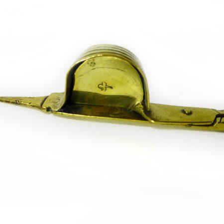 Fine Pair of 17th Century German Brass Snuffers. Circa 1685
