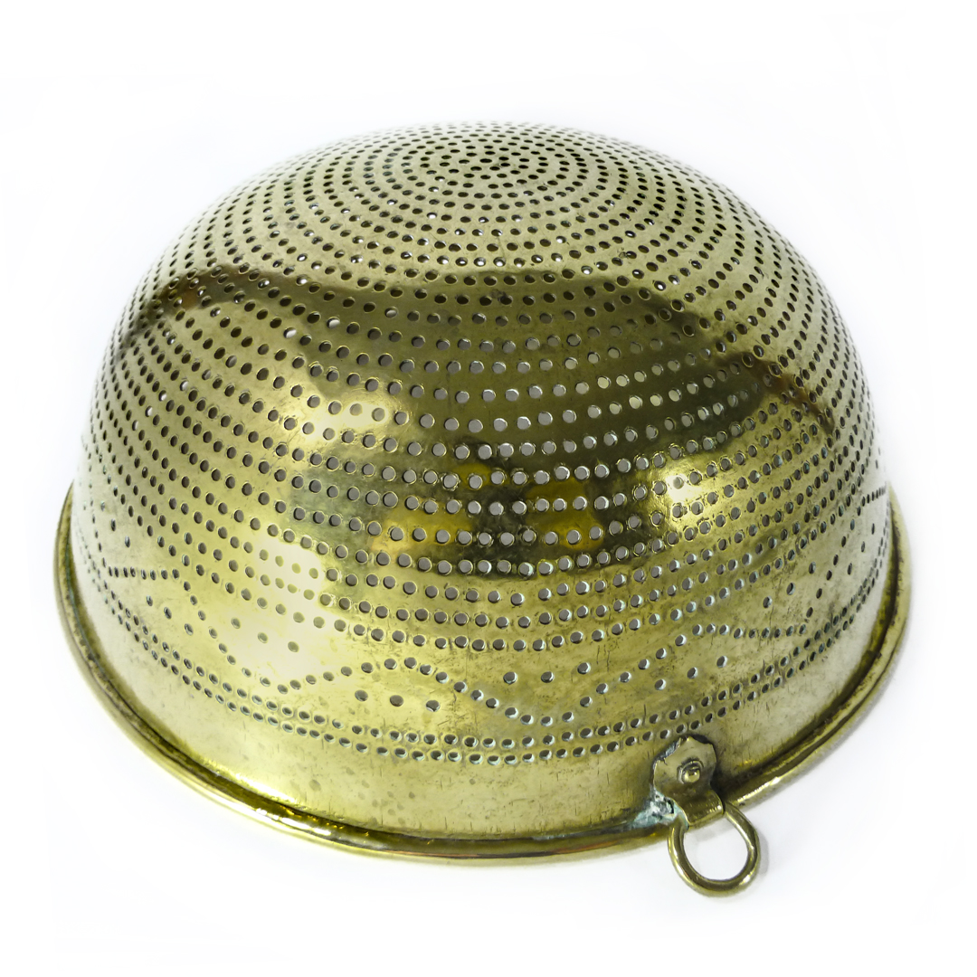 Swedish Brass Colander. Circa 1820
