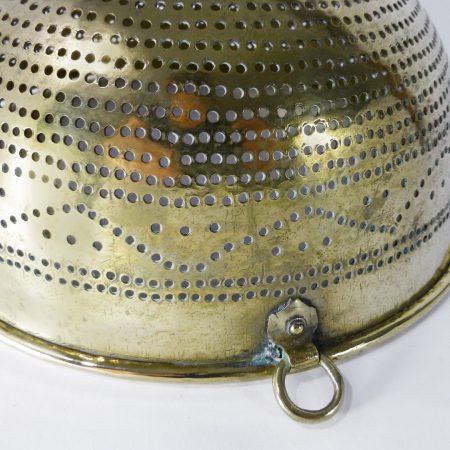 Swedish Brass Colander. Circa 1820