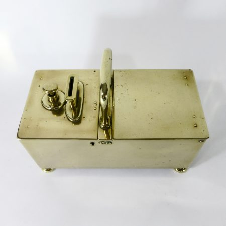 English Brass Honor Box. Circa 1850