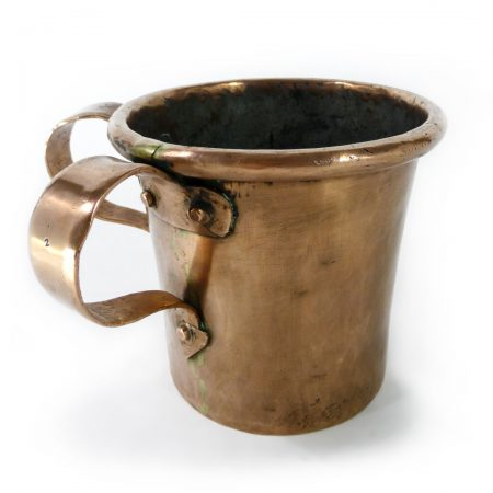 Russian Two-Handled Copper Wash Cup Circa 1850
