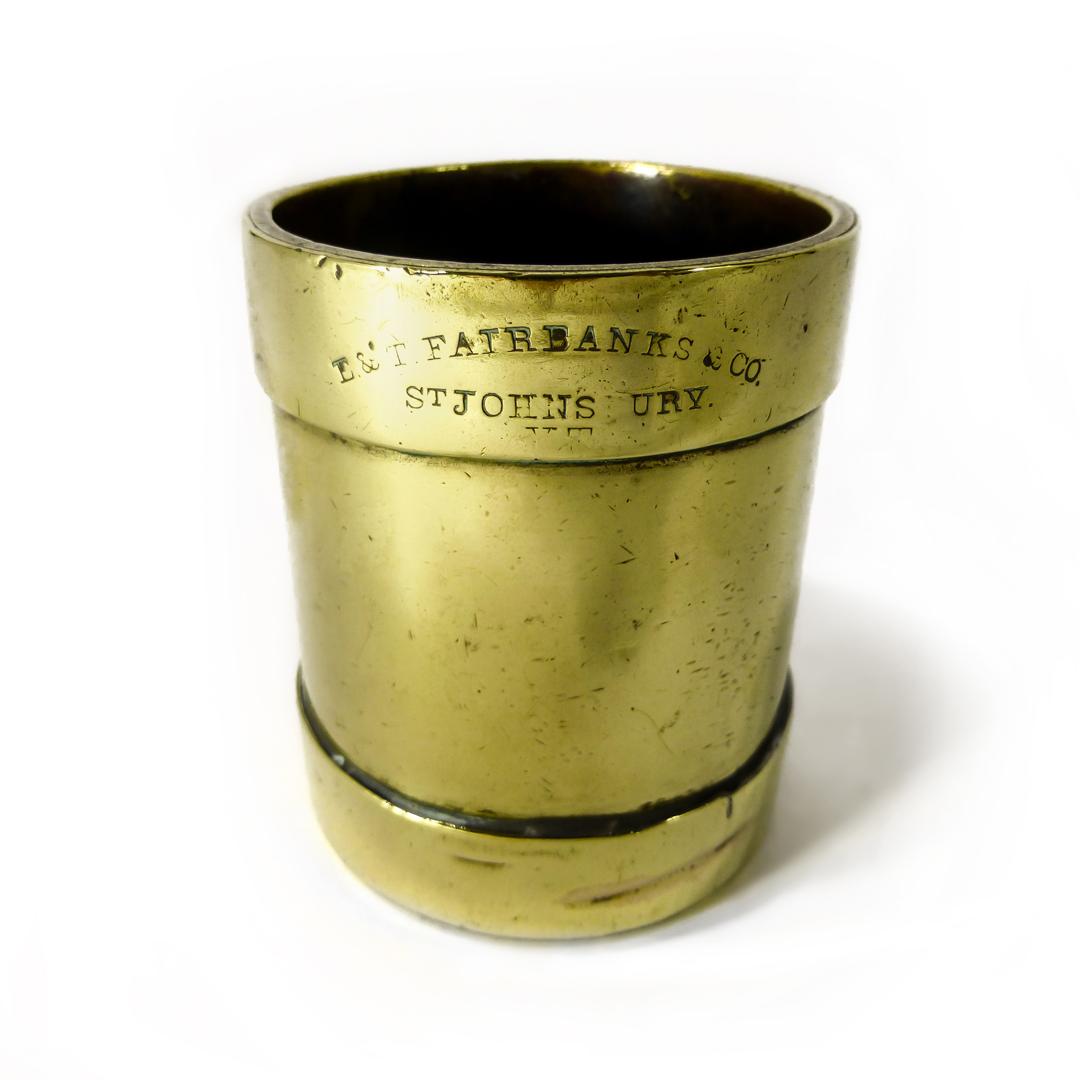 American Brass 1/4 Pint Measure. Circa 1900