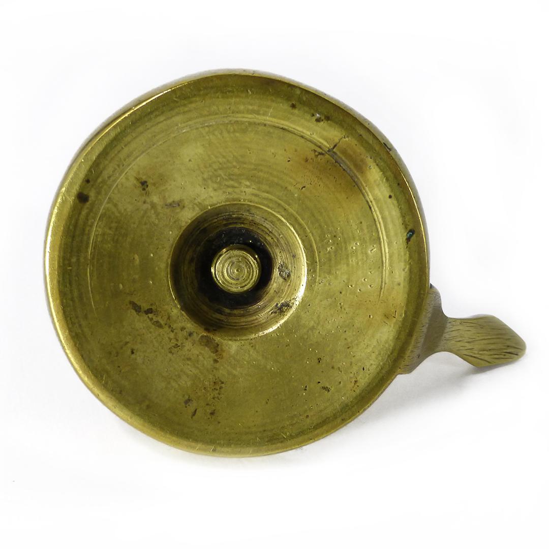 Dutch Brass Chamberstick with short handle. Circa 1700
