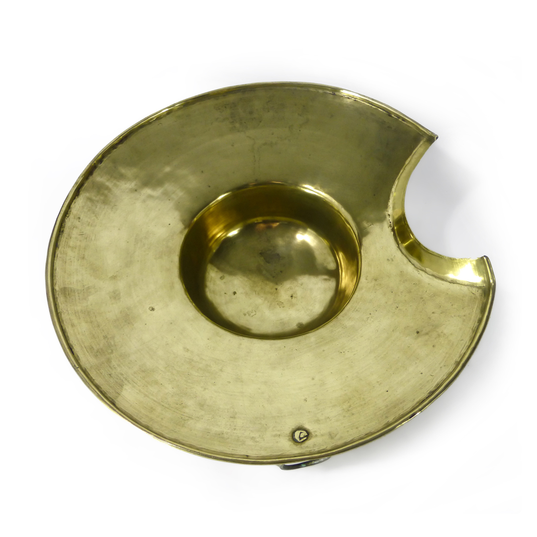 Dutch Brass Barbers Basin. Hand Rolled Rivet. Circa 1780