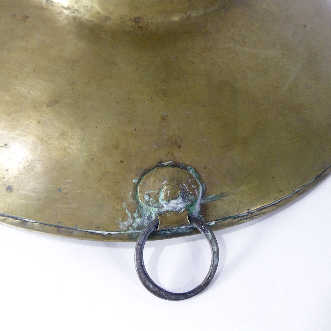 Dutch Brass Barbers Basin. Hand Rolled Rivet. Circa 1780