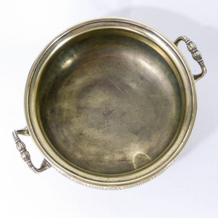 Important French Huguenot Cast Brass Silver Form Tureen. Circa 1720
