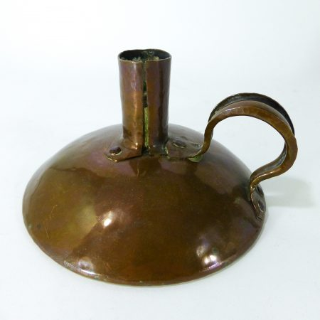 "English ""Arts & Crafts"" Copper Chamberstick. Circa 1900"