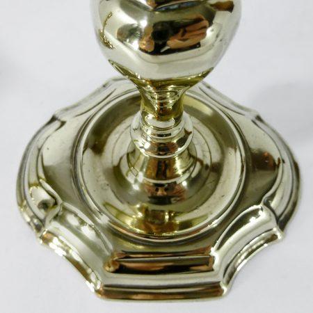 Pair of Danish Brass Candlesticks. Circa 1700