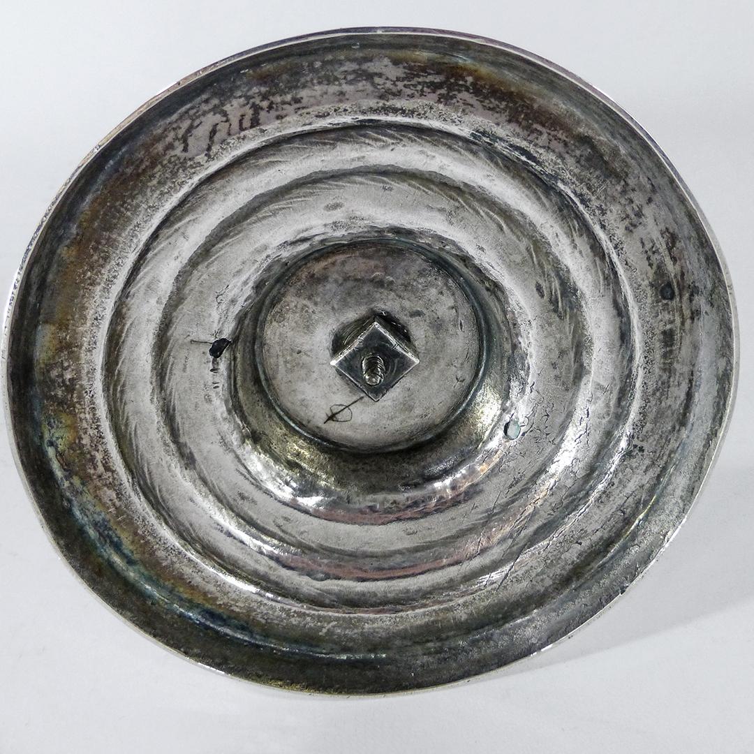 German Silver Single Candlestick. Augsburg. 1772