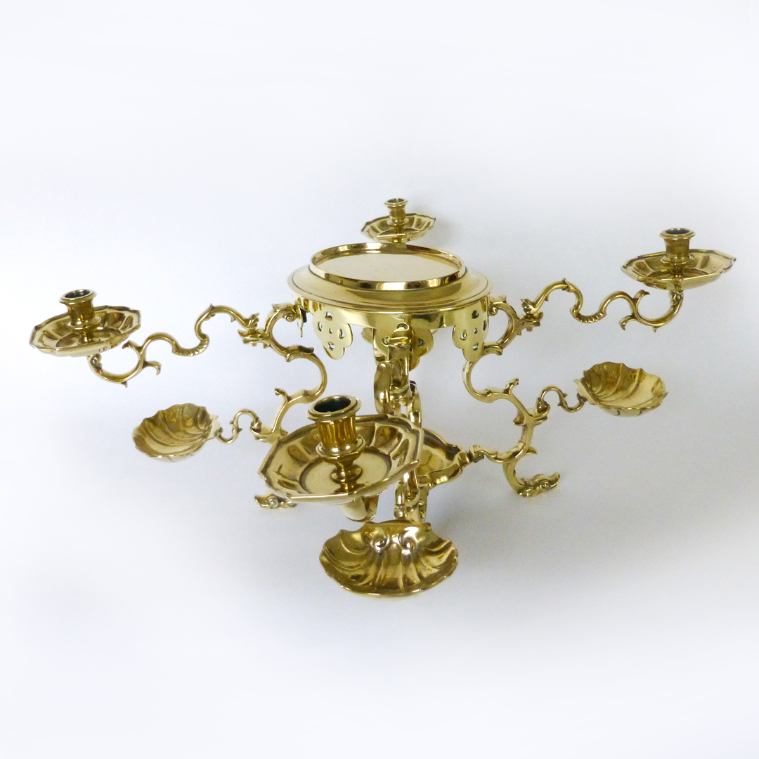 Very Rare 18th Century German [Nuremberg] Silver Form Brass Epergne. Circa 1730