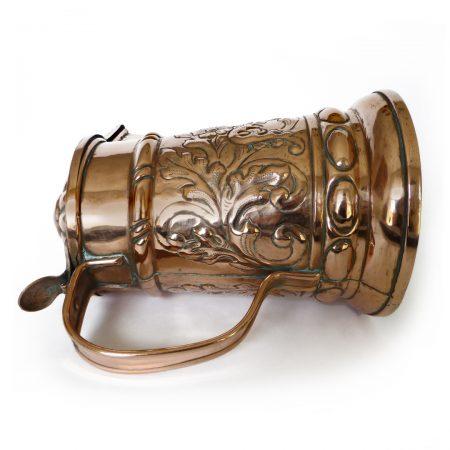 Great German Copper Wine Flagon. Circa 1700's