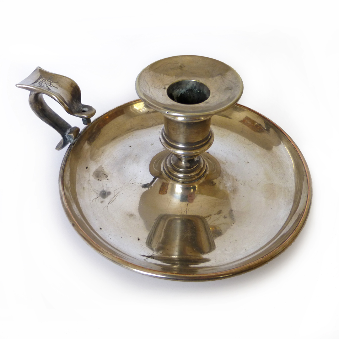 English Silver Plated Chamberstick. Circa 1850