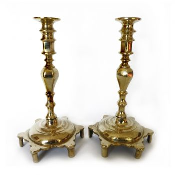 Pair of Russian Brass Candlesticks. Circa 1850