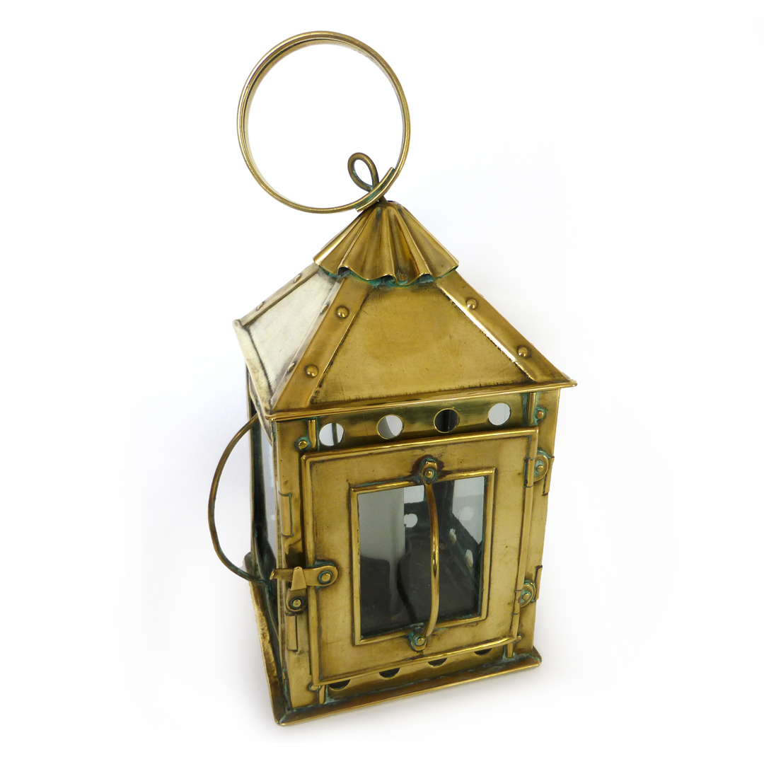 Sweet Small English Brass Lantern. Circa 1875