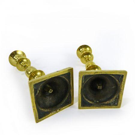 Pair of Russian Brass Candlesticks, Circa 1780