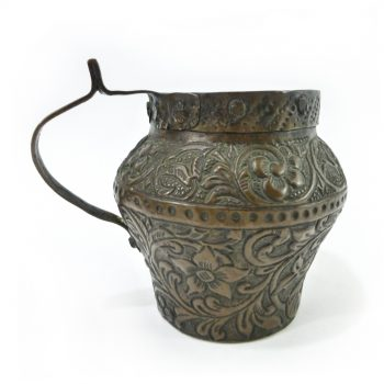 Fabulous Dutch Copper Jug with Repoussé Decoration, Circa 1750