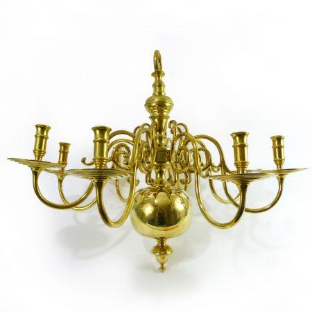 Late 19th Century Dutch Brass Copy of a Great Dutch Brass Chandelier
