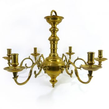 """Great """"Queen Anne"""" English Brass Chandelier. Circa 1890"""
