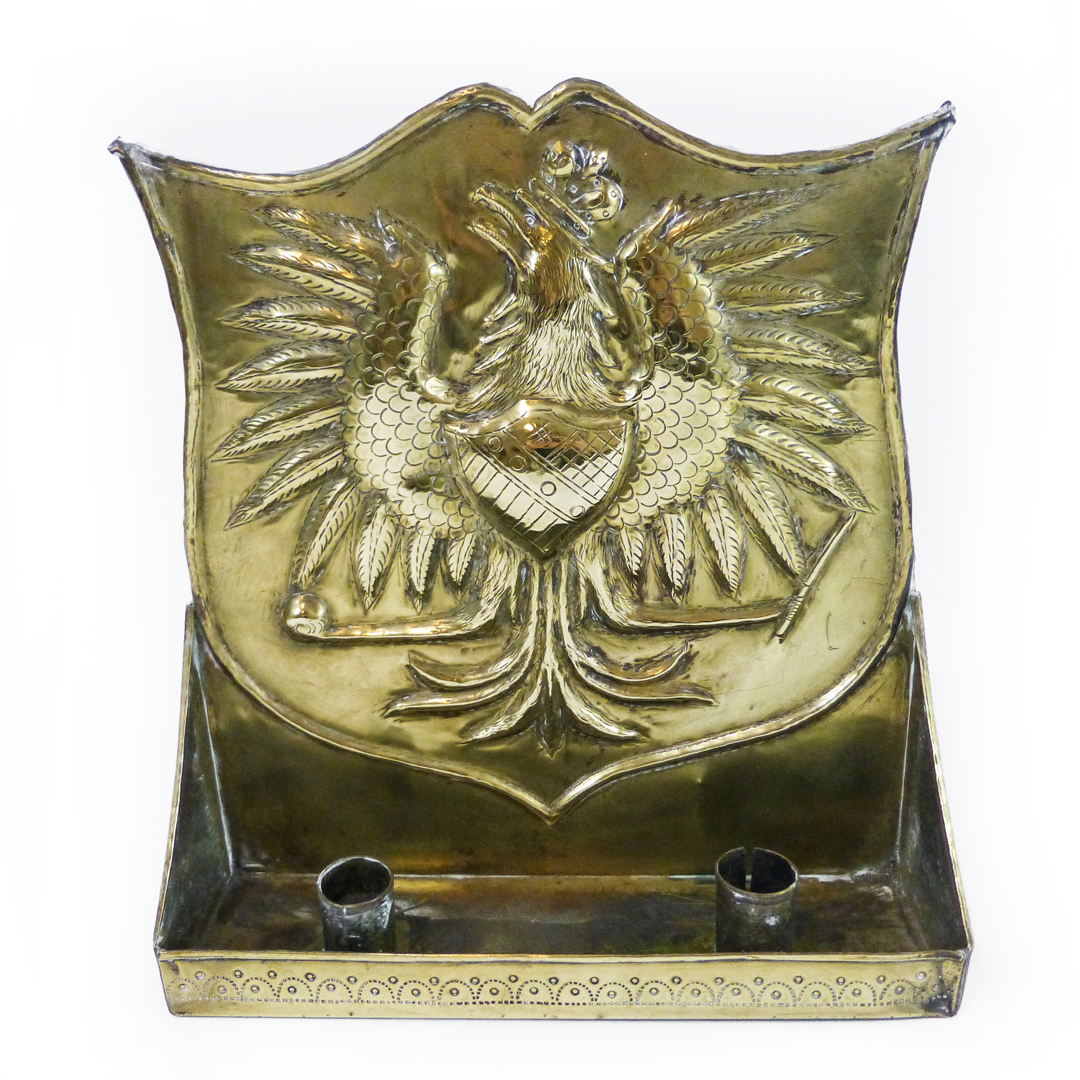 English or Dutch Brass Wall Sconce, Circa 1875