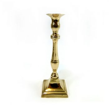 Single Late 18th Century Flemish Bell Metal Candlestick. Circa 1790