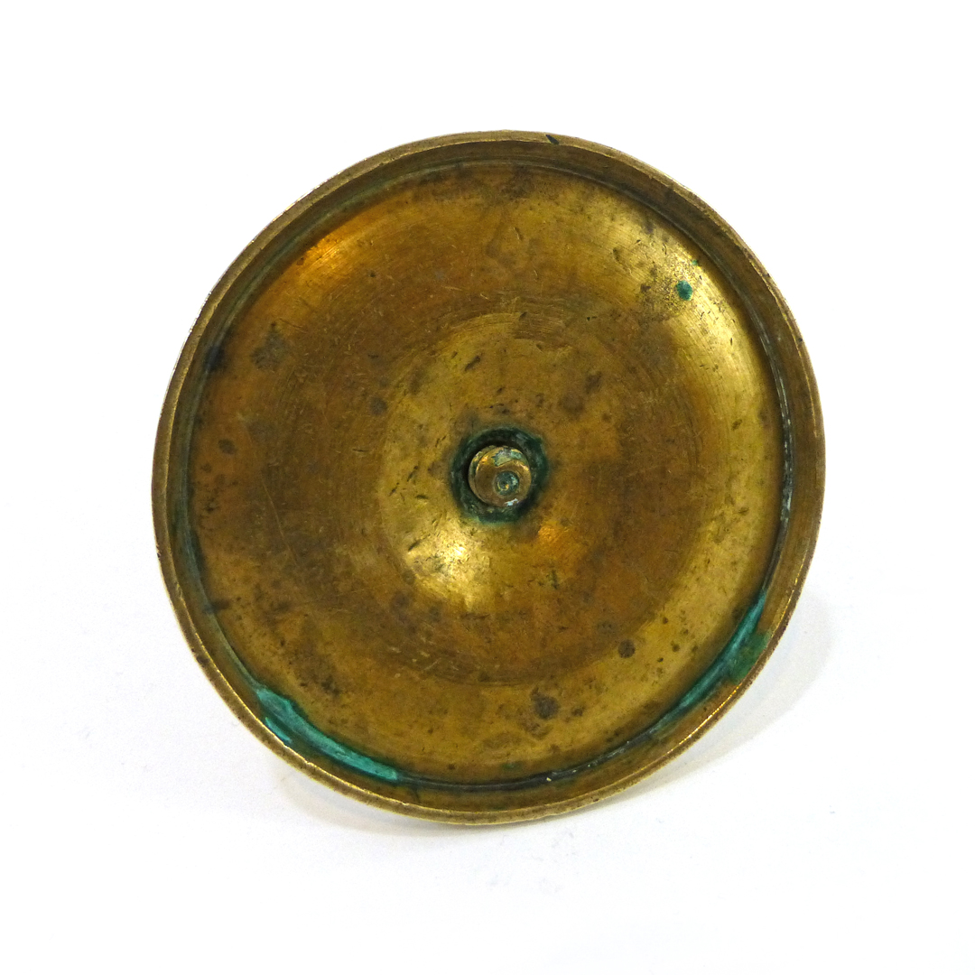 Spanish Colonial Single Brass Candlestick. Circa 1780