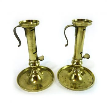 Pair of German Brass Candle Savers. Circa 1820