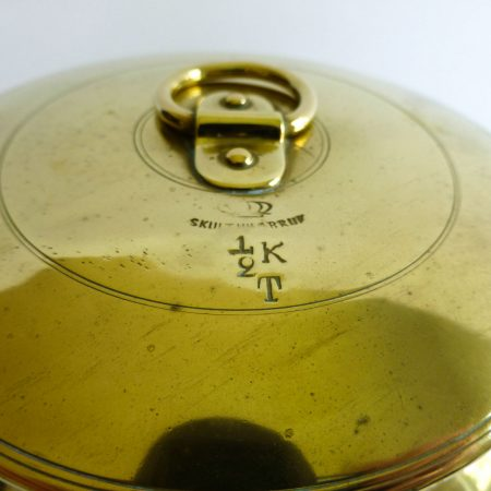 Swedish Brass Bucket and Lid, Signed Skultuna 1/2 K, Circa 1890