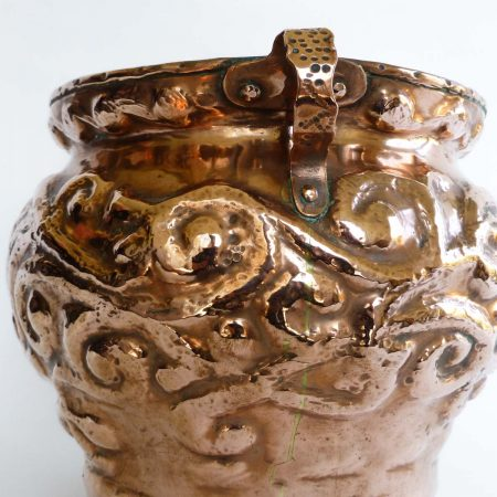 English Copper Jardinière , Circa 1890