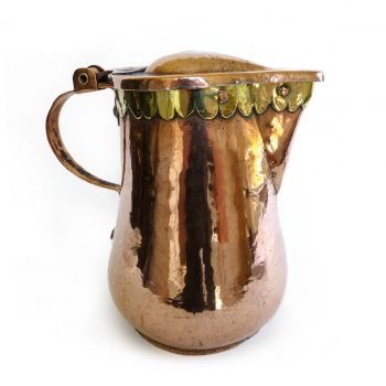 German Copper Wine Flagon, Circa 1700
