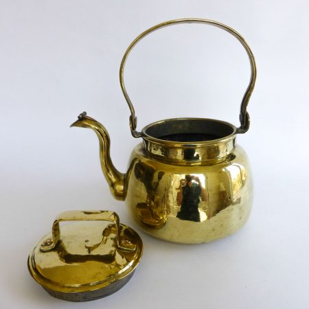 French Brass Water Kettle, Circa 1830