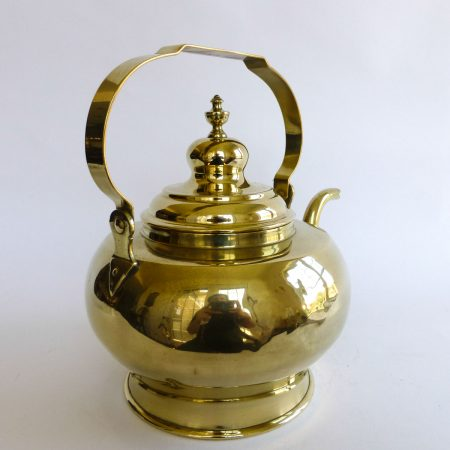 Dutch Brass Tea Kettle, Circa 1875