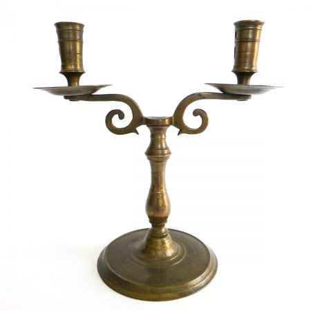 Great Flemish Two Arm Candelabra, Circa 1525