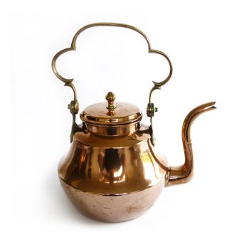 English Early Swing Handled Copper Kettle Circa 1800